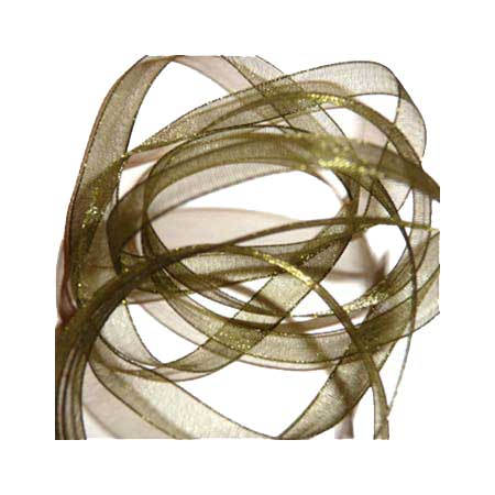 alt 4 12. Band Organza 7mm - Moss