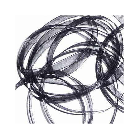 14. Band Organza 7mm - Black