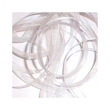 00. Band Organza 7mm - White