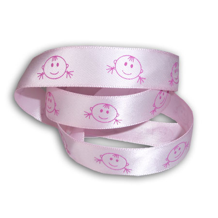 Band - Mönstrade - Baby Girl Smiling Face - 4490