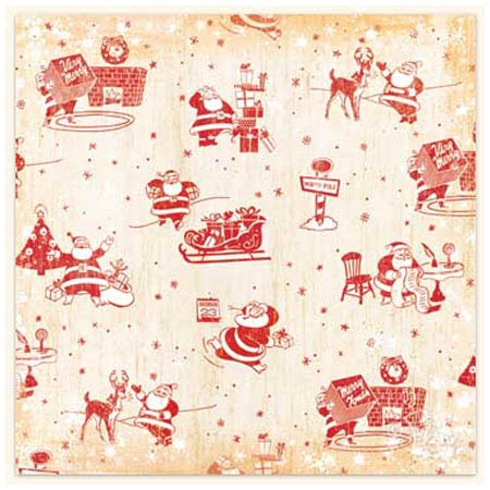 Papper - Flair Designs - Here Comes Santa Claus - Bs0308