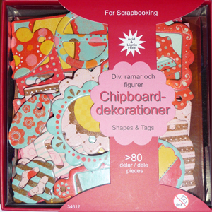 Chipboards - Dekorationer I Ask - Klara Färger - 34612