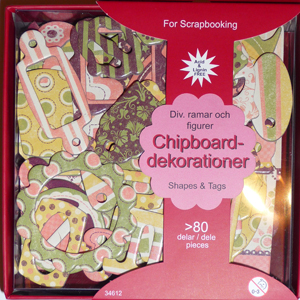 Chipboards - Dekorationer I Ask - Matta Färger - 34612