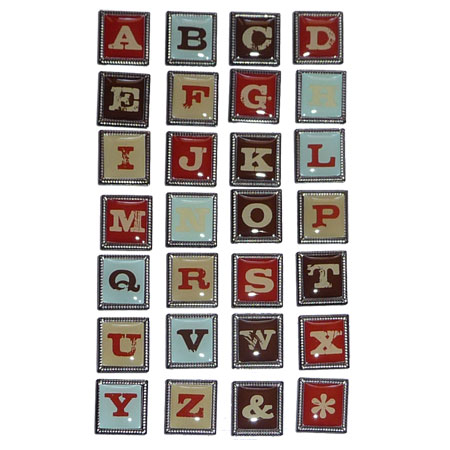 Stickers Metall - Framed Alphabet Stickers - TLA-10 (U)