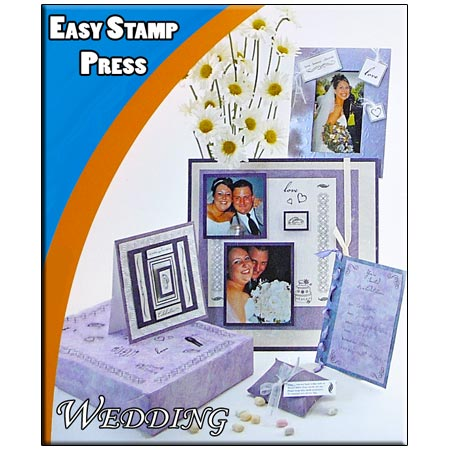 Clearstamps Wedding - 59 Stämplar - Kan användas med Fiskars Easy Stamp Press - 8914