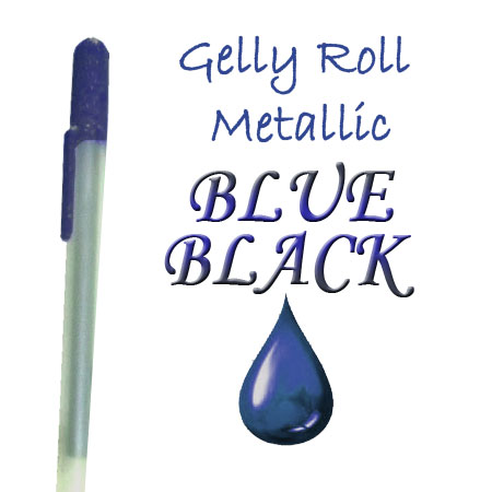 Gelly Roll Penna - Metallic - Blue/Black 543