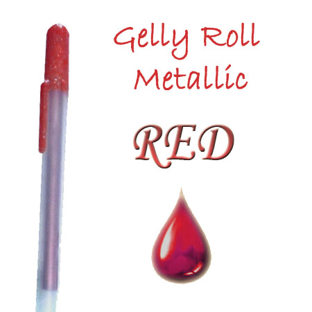 Gelly Roll Penna - Metallic - Red 519