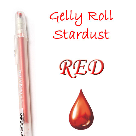 Gelly Roll Penna - Stardust - Red 719