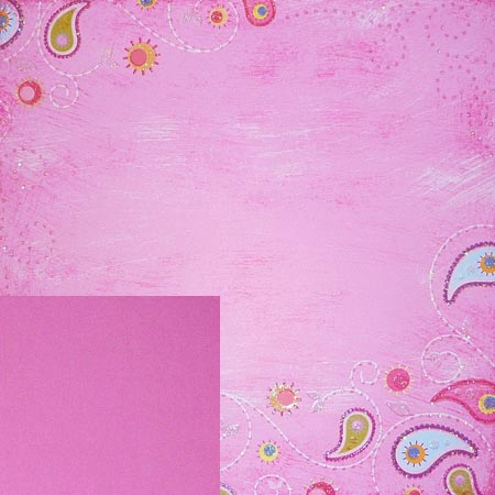 Glitterpapper - Best Creation - Paisleyrosa - GP059
