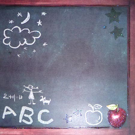 Glitterpapper - Best Creation - Back In School ABC - GP138