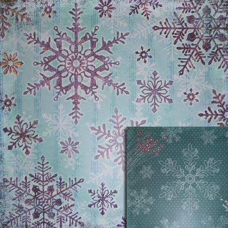 Glitterpapper - Best Creation - Snowflake - GP177