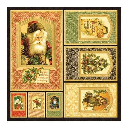 Papper - Graphic 45 - Christmas Past Frames - 4500143