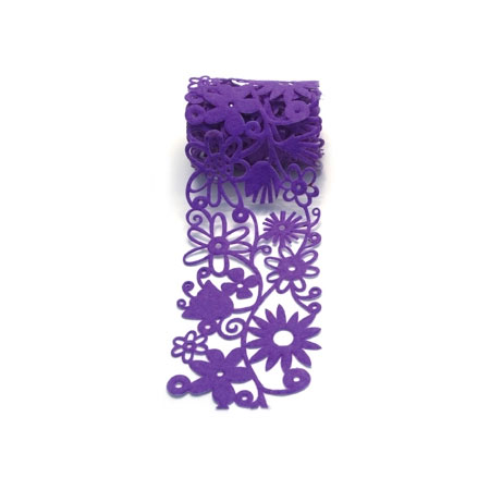 Fozz Felt - Fusion Flowers 95 cm - Purple