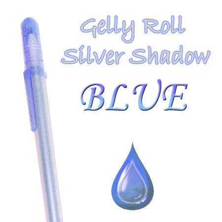 Gelly Roll Penna - Silver Shadow - Blue 636