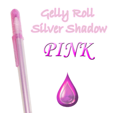 Gelly Roll Penna - Silver Shadow - Pink 620