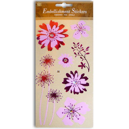 Stickers - Glorious Flowers With Emboss - CLA1700